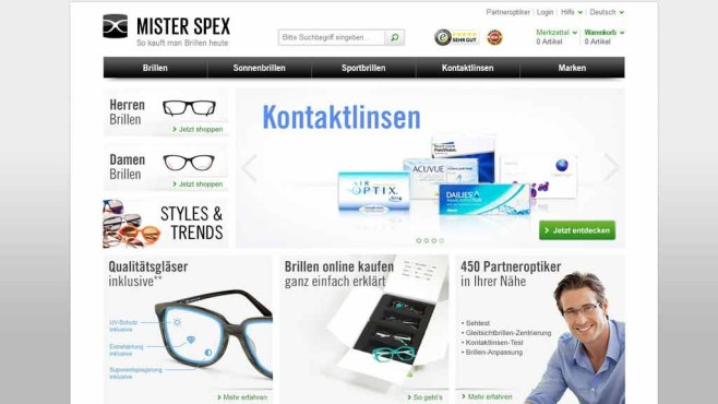 Mister Spex ©Screenshot: mister Spex.de
