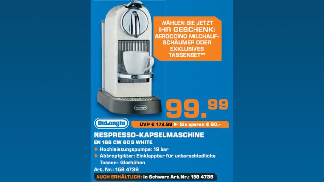 DeLonghi Nespresso Citiz EN 166 ©Saturn