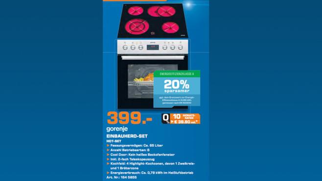 Gorenje Hot-Set (BC 6306 ZX + ECD 620 BSC) ©Saturn