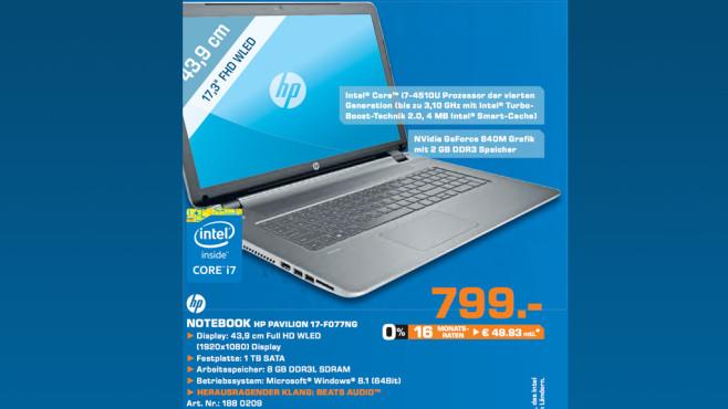 Hewlett-Packard HP Pavilion 17-F077NG ©Saturn