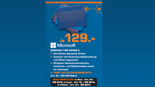 Microsoft Surface Pro 3 Type Cover ©Saturn
