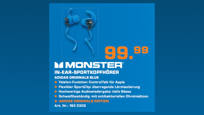 Monster Adidas Originals In-Ear ©Saturn