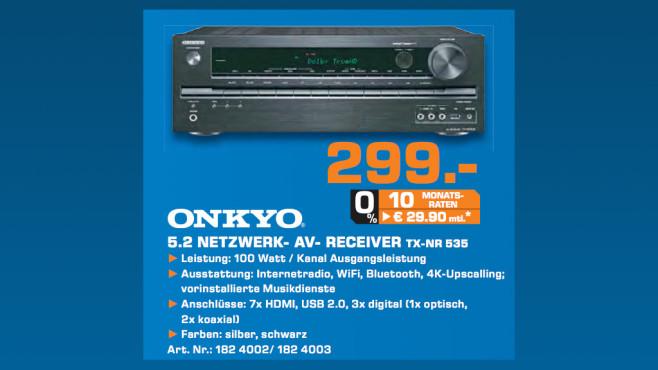 Onkyo TX-NR535 ©Saturn