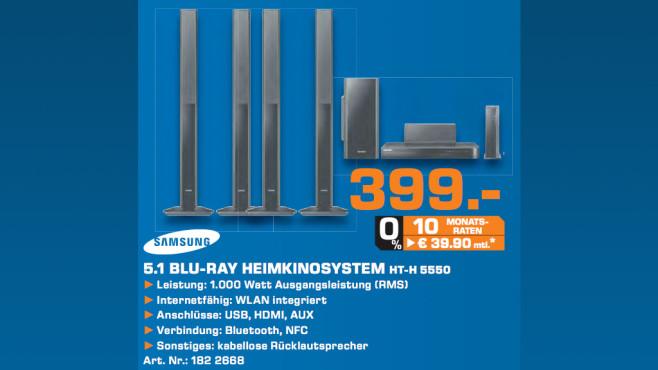 Samsung HT-H5550W ©Saturn