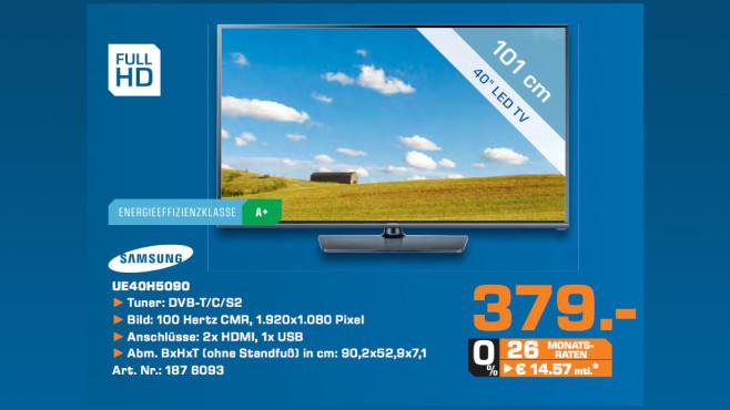 Samsung UE40H5090 ©Saturn