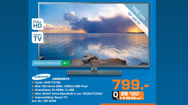 Samsung UE58H5273 ©Saturn