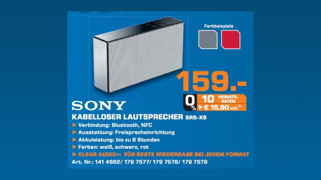 Sony SRS-X5 ©Saturn