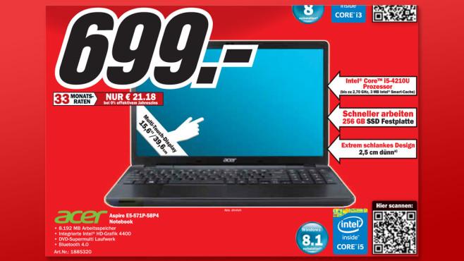 Acer Aspire E5-571P-58P4 ©Media Markt