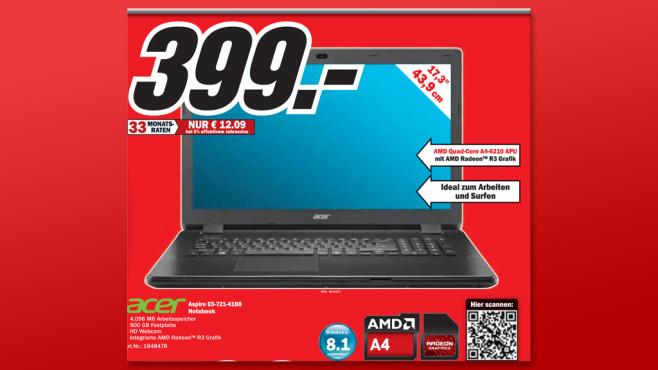 Acer Aspire E5-721-4188 (NX.MNDEG.006) ©Media Markt