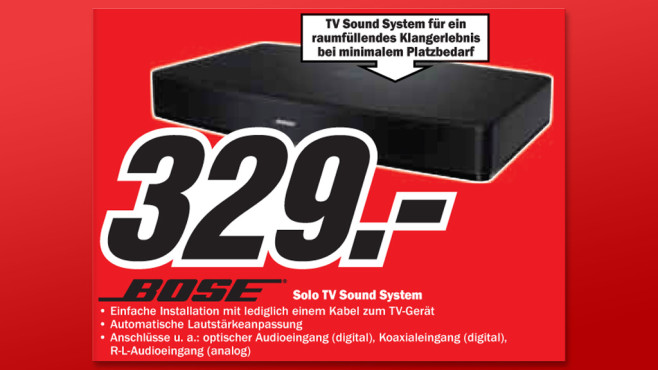 Bose Solo TV Sound System © Media Markt