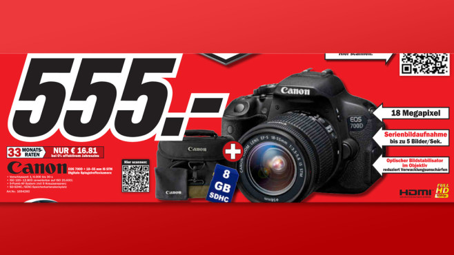 Canon EOS 700D Kit 18-55 mm [Canon IS STM] © Media Markt