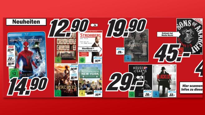 DVDs und Blu-rays ©Media Markt