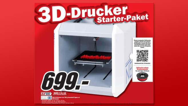 German RepRap NEO 3D-Drucker © Media Markt