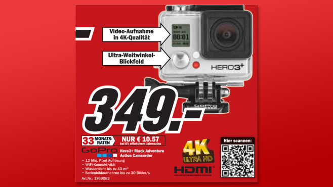 GoPro HERO3+ Black Edition Motorsport © Media Markt