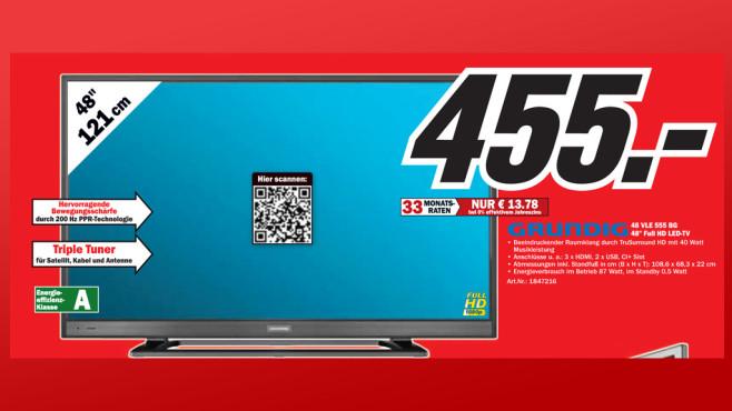 Grundig 48 VLE 555 BG ©Media Markt