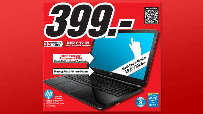Hewlett-Packard HP 15-R034NG © Media Markt