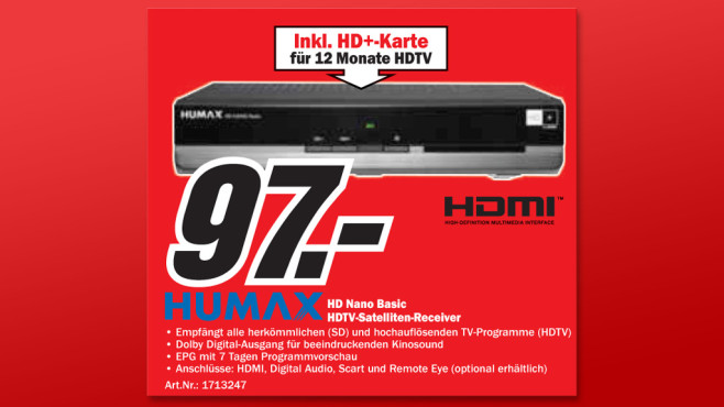 Humax HD Nano Basic © Media Markt