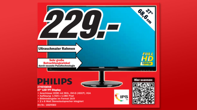 Philips 274E5QDAB © Media Markt