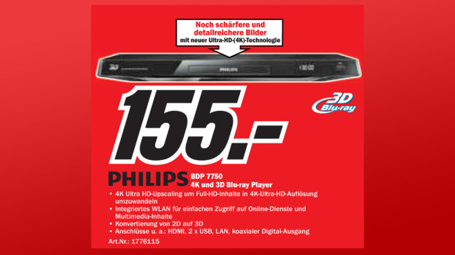 Philips BDP7750 © Media Markt