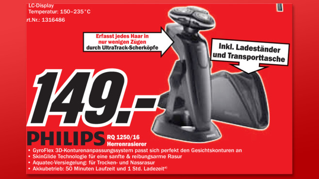 Philips RQ1250/16 SensoTouch © Media Markt