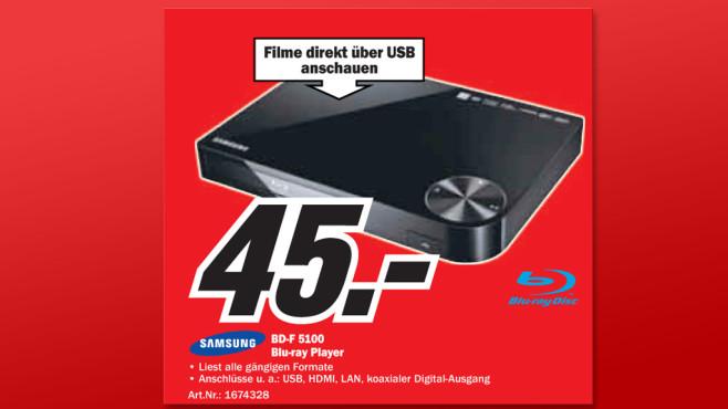 Samsung BD-F5100 ©Media Markt