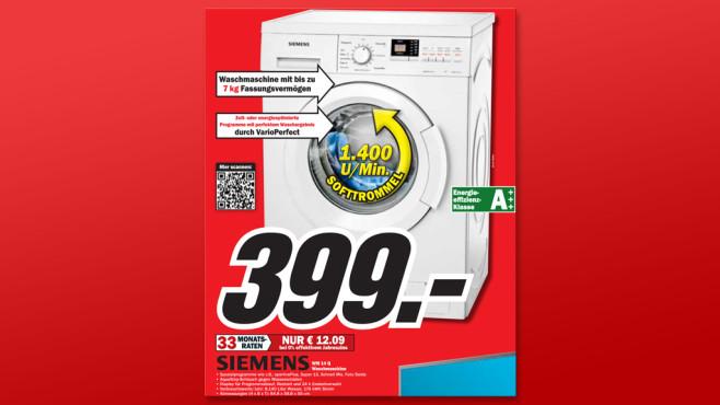 Siemens WM14Q3ED ©Media Markt