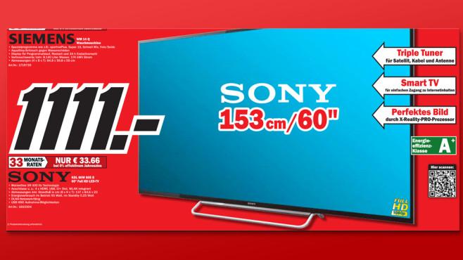 Sony KDL-60W605B ©Media Markt
