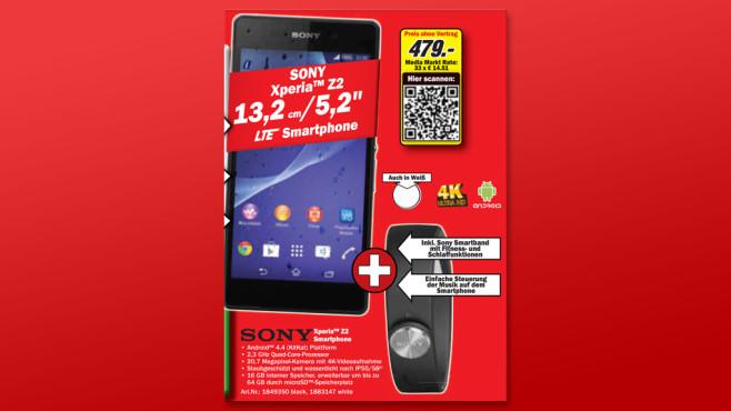 Sony Xperia Z2 ©Media Markt