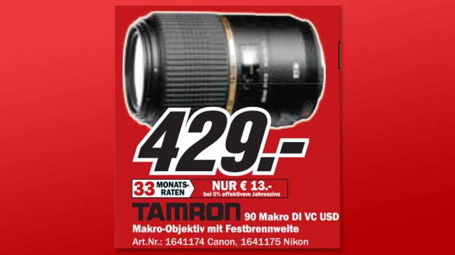 Tamron 16-300mm f3.5-6.3 Di II VC PZD Macro [Canon] ©Media Markt