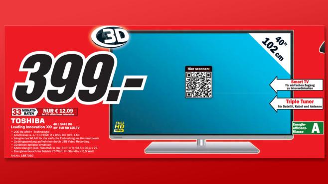 Toshiba 40L5443DG ©Media Markt