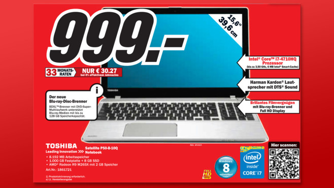 Toshiba Satellite P50-B-10Q © Media Markt