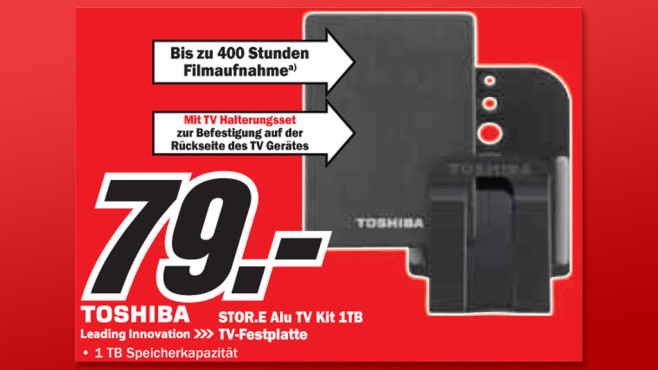 Toshiba Stor.e Alu TV Kit 1TB © Media Markt
