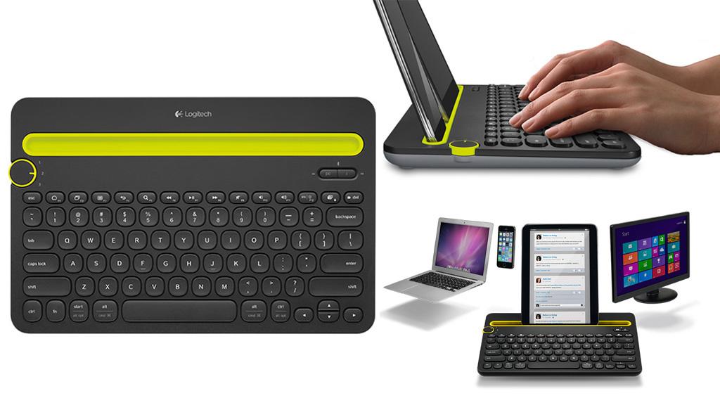 logitech k480 tastatur f r alle ger te computer bild. Black Bedroom Furniture Sets. Home Design Ideas