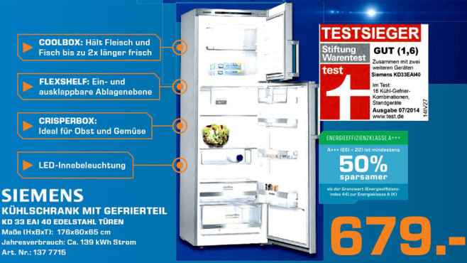 Siemens KD33EAI40 ©Saturn