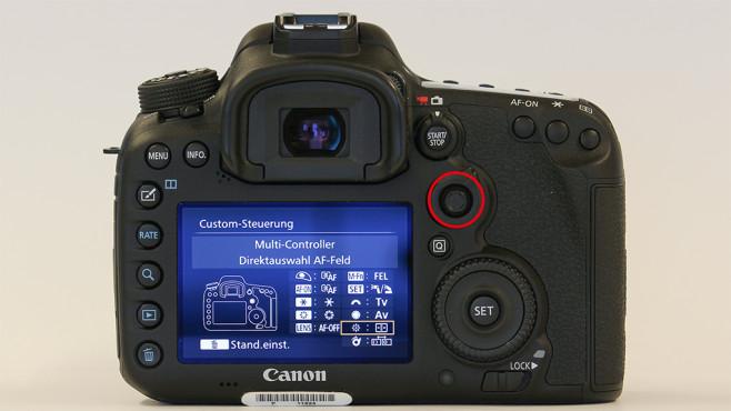 Autofokus-Joystick und -schalter ©COMPUTER BILD