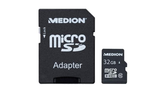 Medion 32 GB microSDHC-Speicherkarte ©Medion
