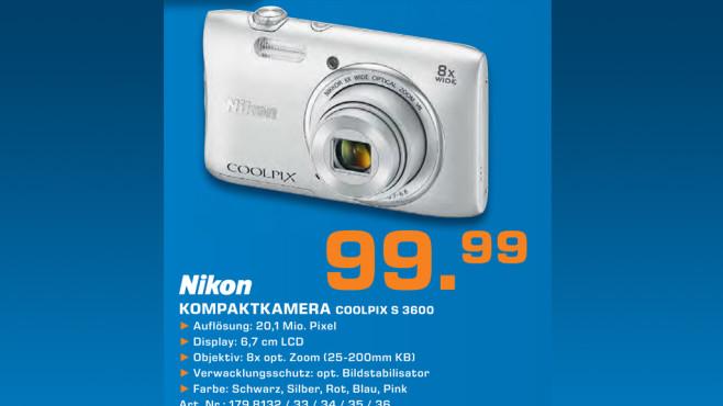 Nikon Coolpix S3600 ©Saturn