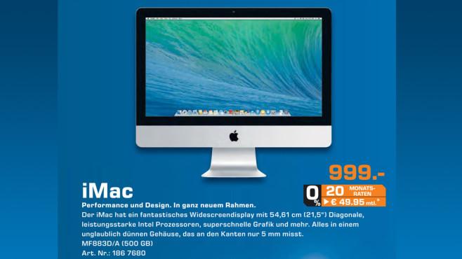 Apple iMac 21,5 Zoll ©Saturn