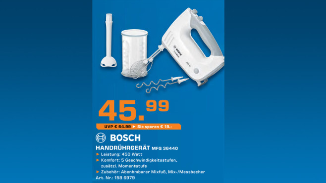 Bosch MFQ36440 ErgoMixx ©Saturn