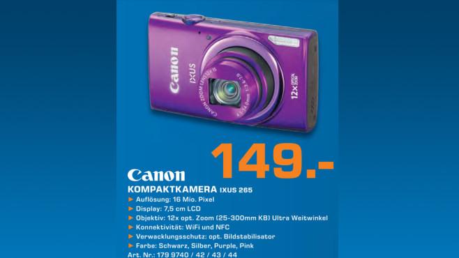 Canon Ixus 265 HS ©Saturn