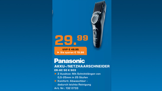 Panasonic ER-GC50 ©Saturn