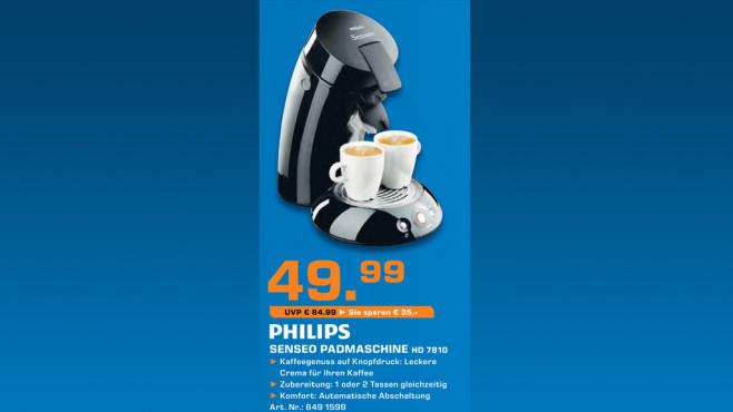 Philips Senseo HD 7810 ©Saturn