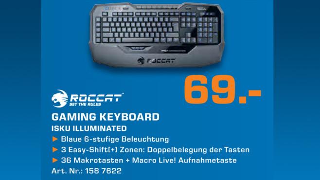 Roccat ISKU Illuminated Gaming Keyboard ©Saturn