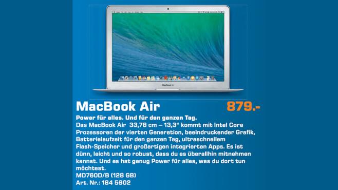 """Apple MacBook Air 13"""" (MD760D/B) ©Saturn"""
