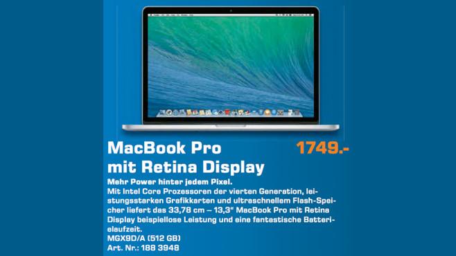 Apple Macbook Pro MGX92D/A ©Saturn