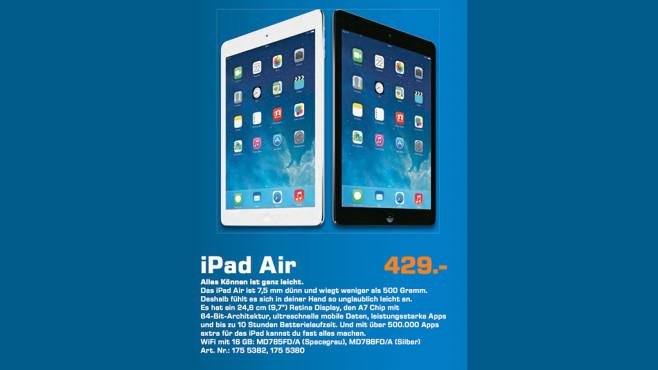 Apple iPad Air 16GB WiFi spacegrau ©Saturn