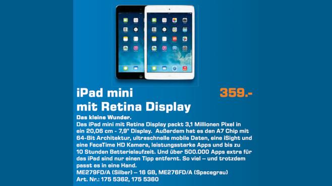 Apple iPad mini Retina 16GB WiFi ©Saturn