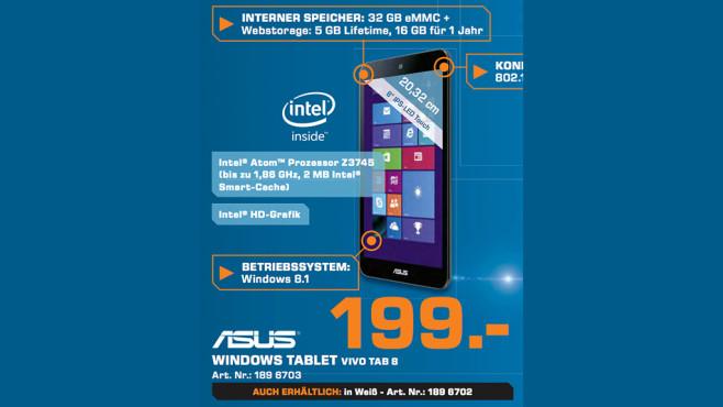 Asus VivoTab Note 8 32GB ©Saturn