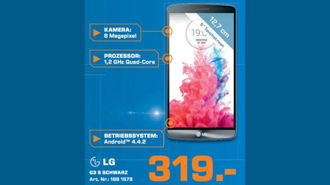 LG G3 S Schwarz ©Saturn