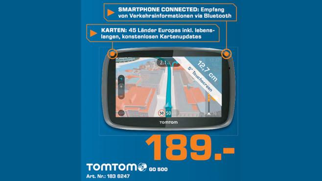 TomTom GO 500 Europa (mit TMC) ©Saturn
